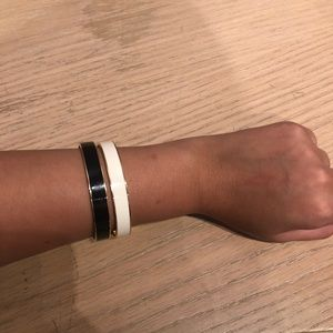 Kate Spade Black and White Bangle Set